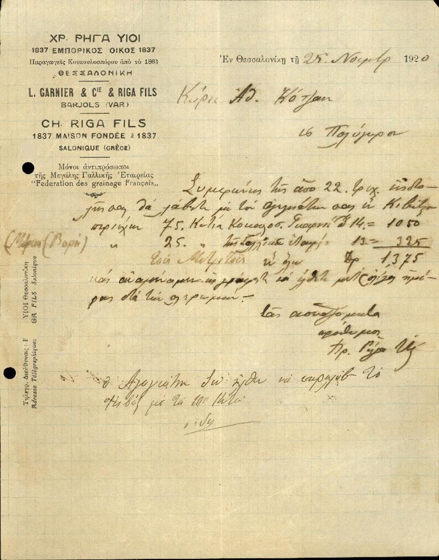 Επιστολές Τηλεγραφήματα Νο 187